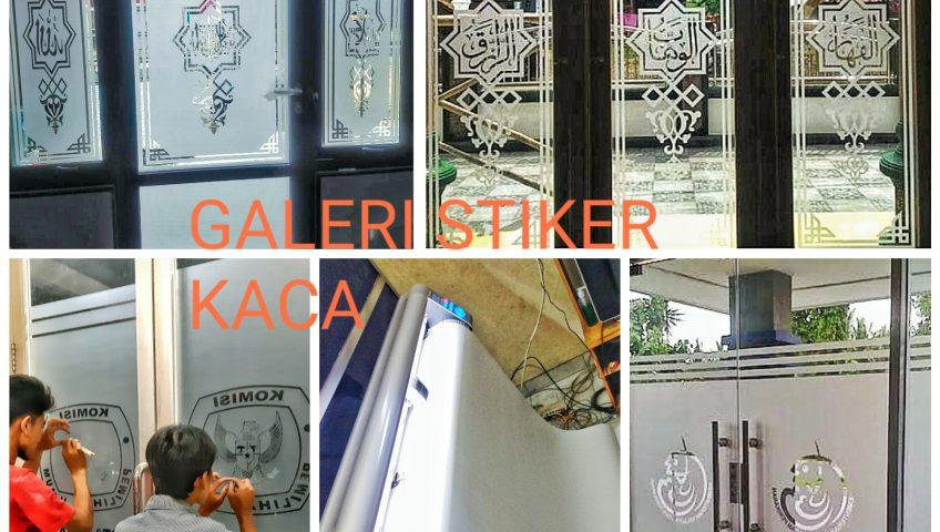 kami menyediakan pembuatan logo/gambar cutting stiker kaca